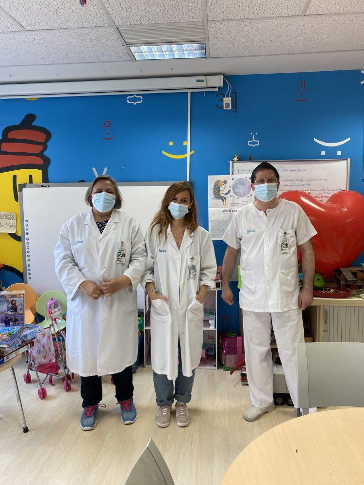 Jesús Alicia y Esther profesores del aula hospitalaria