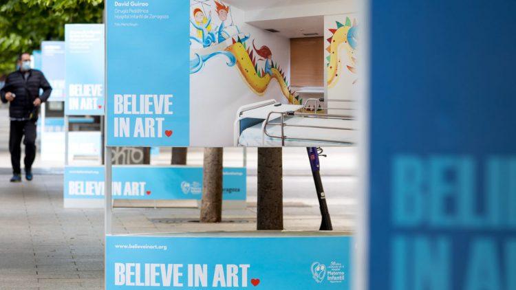 Believe in art se da a conocer en el paseo Independencia de Zaragoza.